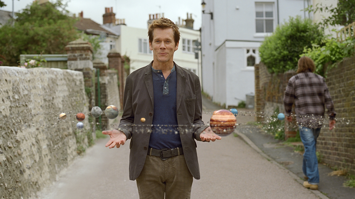 On walk-a-bout with Kevin Bacon for EE